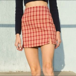 Brandy Melville John Galt Plaid Skirt
